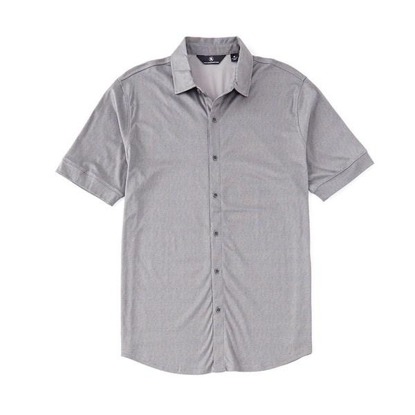 ハートシャファネールマークス メンズ シャツ トップス Short Sleeve Maze Print Coatfront Grey