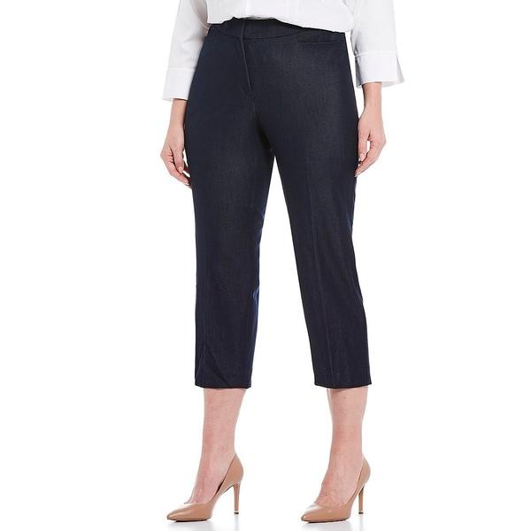 インベストメンツ レディース カジュアルパンツ ボトムス Plus Size the 5th AVE fit Elite Stretch Indigo Crop Pant Indigo