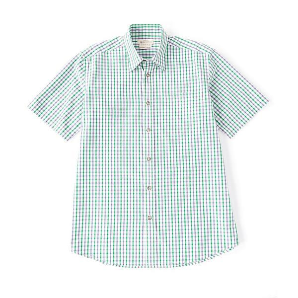 ベレッタ メンズ シャツ トップス Trail Short-Sleeve Woven Shirt Purple Check