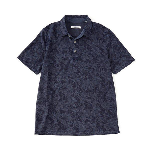 トッミーバハマ メンズ ポロシャツ トップス Palmetto Palms Short-Sleeve Polo Shirt Denim