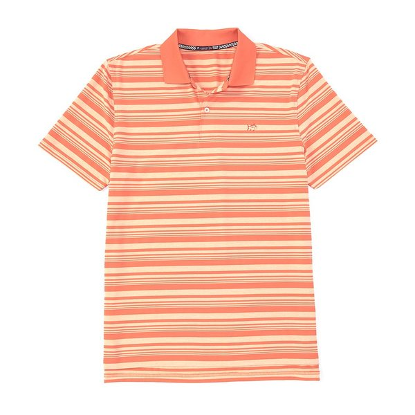 サウザーンタイド メンズ ポロシャツ トップス Driver Heather Stripe Performance Stretch Short-Sleeve Polo Shirt Mango