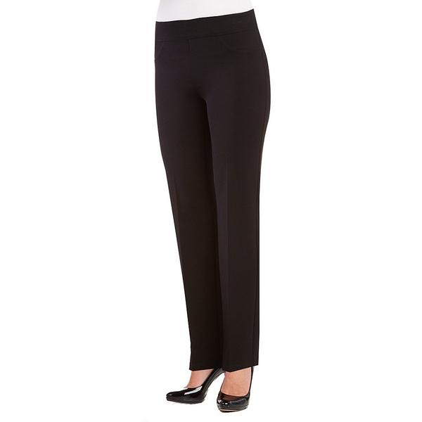 ピーターニガード レディース カジュアルパンツ ボトムス Nygard SLIMS Petite Luxe Faux Pocket Straight Leg Pants Black