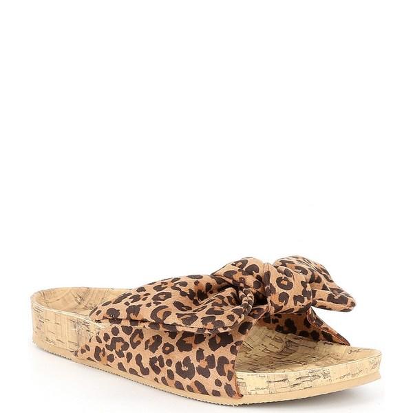 アンナ&アヴァ レディース サンダル シューズ Knot Leopard Slide Sandals Leopard