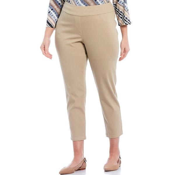 ルビーロード レディース カジュアルパンツ ボトムス Plus Size Pull-On Knitted Twill Knit Ankle Pants Chino