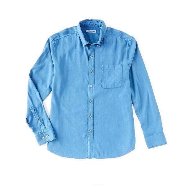 トッミーバハマ メンズ シャツ トップス Big & Tall Huntington Herringbone Long-Sleeve Woven Shirt Bengal Blue