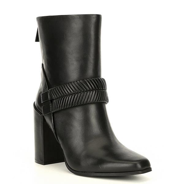 AD&ドーターズ レディース ブーツ&レインブーツ シューズ Declann Leather Block Heel Booties Black