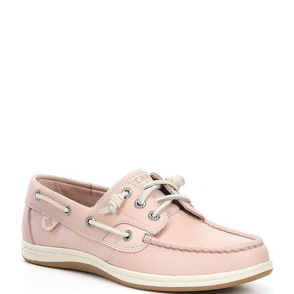 スペリー レディース デッキシューズ シューズ Songfish Saffiano Leather Boat Shoes Rose Dust