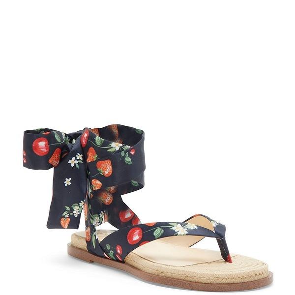 ジェシカシンプソン レディース サンダル シューズ Abramo Espadrille Scarf Tie Thong Sandals Navy