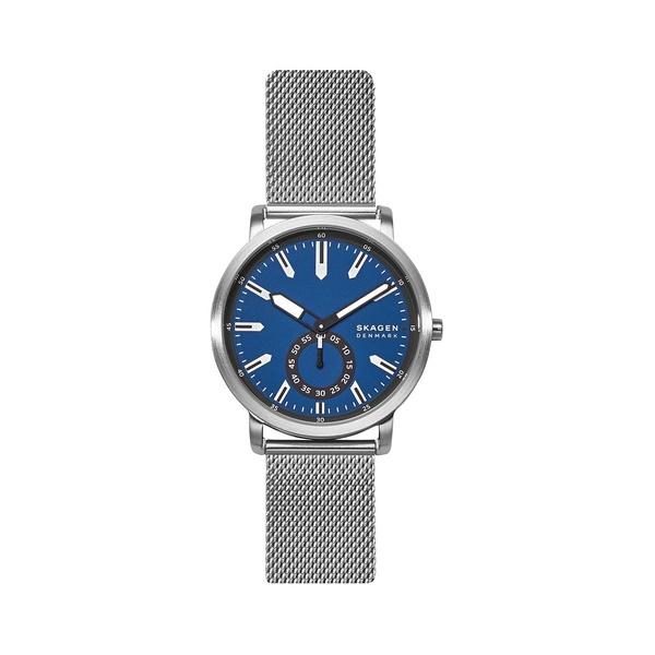 スカーゲン レディース 腕時計 アクセサリー Colden Stainless Steel Mesh Bracelet 3-Hand Watch Silver
