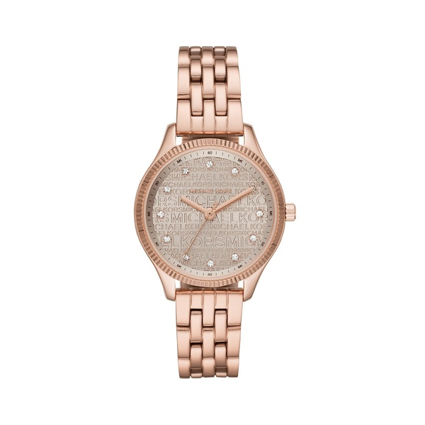マイケルコース レディース 腕時計 アクセサリー Lexington Three-Hand Rose Goldtone Stainless Steel Watch Rose Gold