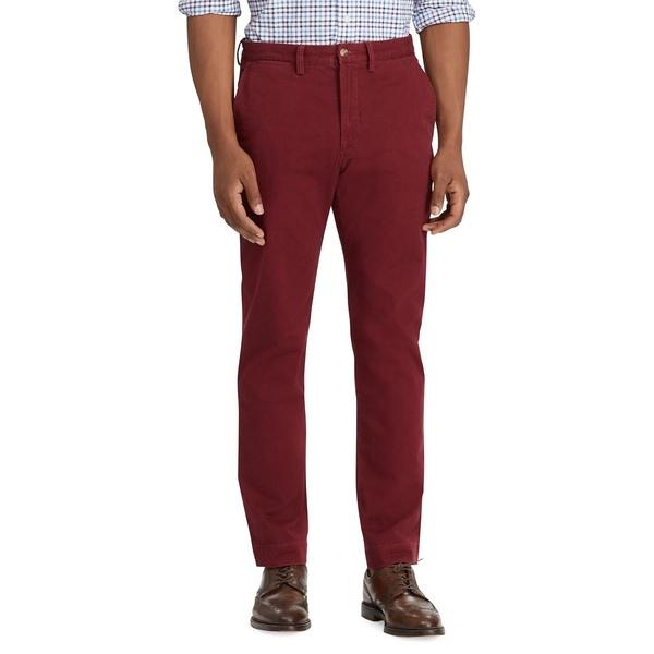 ラルフローレン メンズ カジュアルパンツ ボトムス Stretch Straight-Fit Chino Pants Red