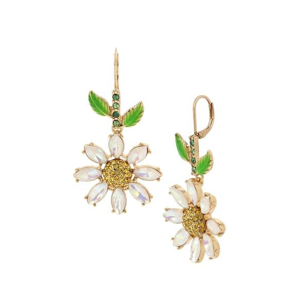 ベッツィジョンソン レディース ピアス&イヤリング アクセサリー Goldtone & Crystal Daisy Drop Earrings Gold