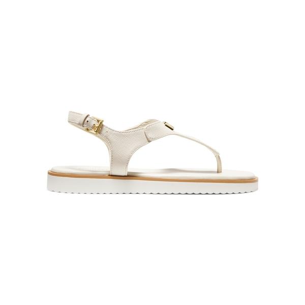 マイケルコース レディース サンダル シューズ Brady Textured Leather Sandals Light Cream