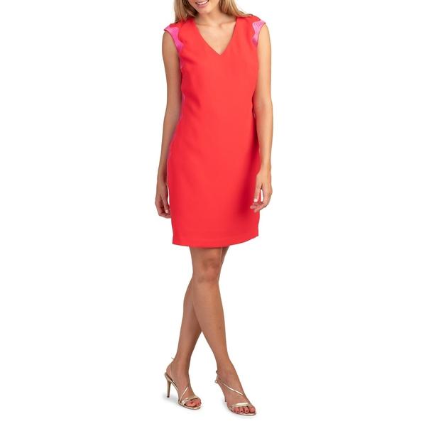 トリーナターク レディース ワンピース トップス Embroidered Mini Dress Red Hot