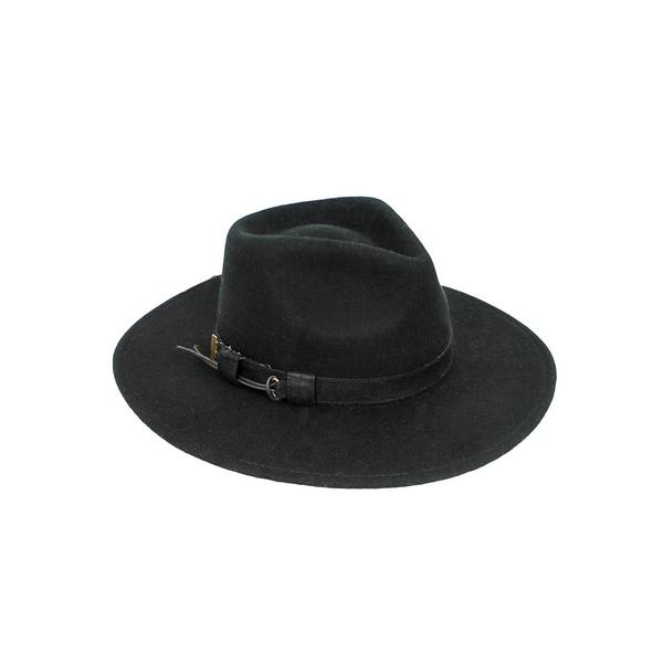 ピーターグリム レディース 帽子 アクセサリー Mercer Wool Fedora Hat Black