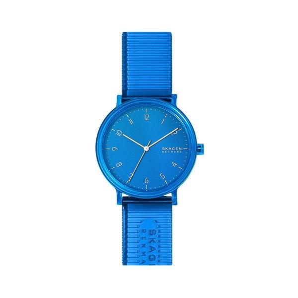 スカーゲン レディース 腕時計 アクセサリー Aaren Nylon 3-Hand Watch Blue