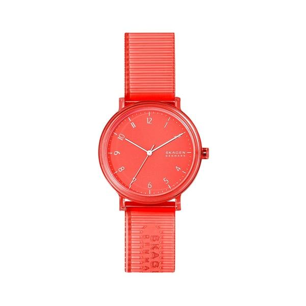 スカーゲン レディース 腕時計 アクセサリー Aaren Nylon 3-Hand Watch Coral