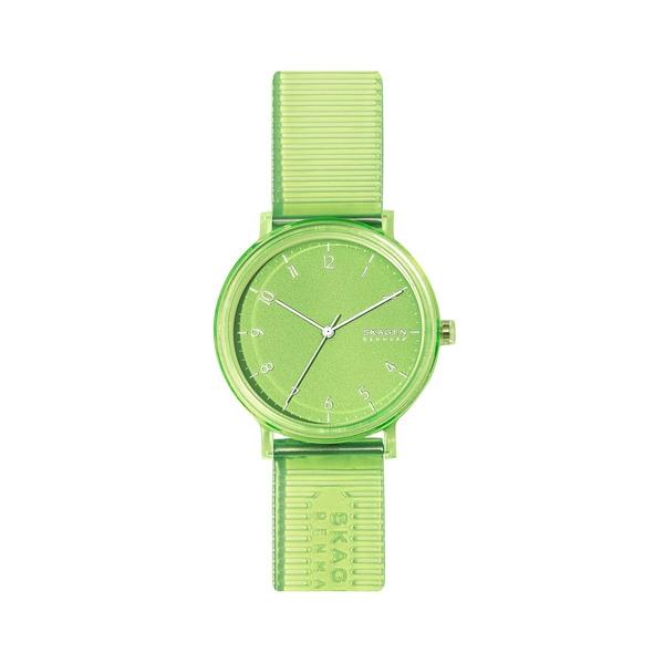 スカーゲン レディース 腕時計 アクセサリー Aaren Nylon 3-Hand Watch Green