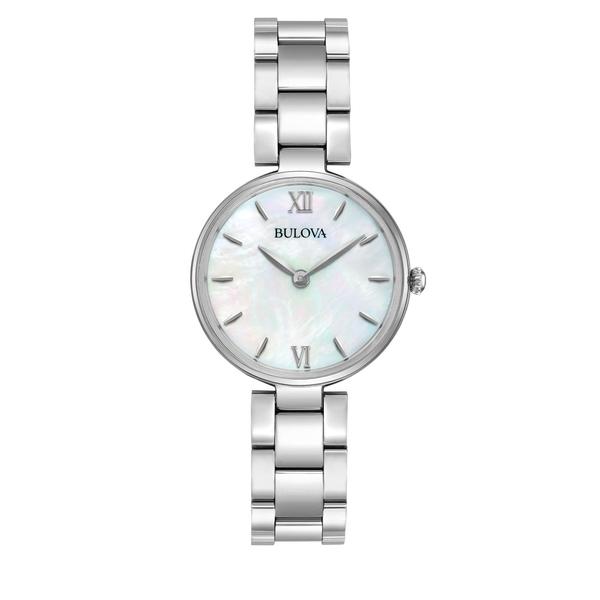 ブロバ レディース 腕時計 アクセサリー Ladies' Classic Analog Stainless Steel & Mother-Of-Pearl Watch Silver