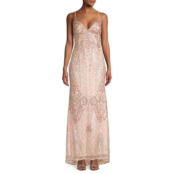 ジャンプ レディース ワンピース トップス Sequin Embellished Long Gown Blush