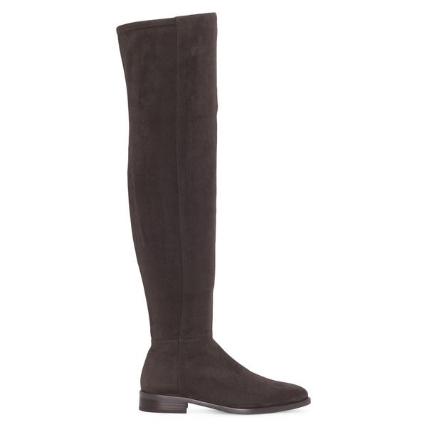 ヴィンスカムート レディース ブーツ&レインブーツ シューズ Hailie Suede Over-The-Knee Boots Dark Grey