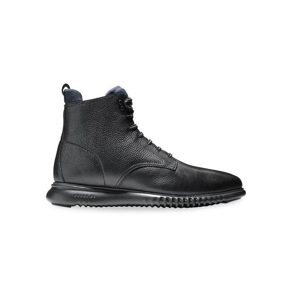 コールハーン メンズ ブーツ&レインブーツ シューズ Men's 2.Zerogrand City Leather Waterproof Boots Black