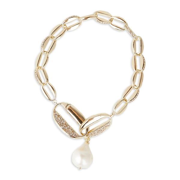 キャロリー レディース ブレスレット・バングル・アンクレット アクセサリー Goldtone and 21MM Baroque Pearl Flex Bracelet Gold