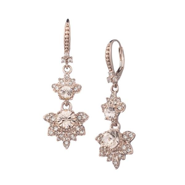 マルケッサ レディース ピアス&イヤリング アクセサリー Rose Goldtone & Crystal Drop Earrings Rose Gold