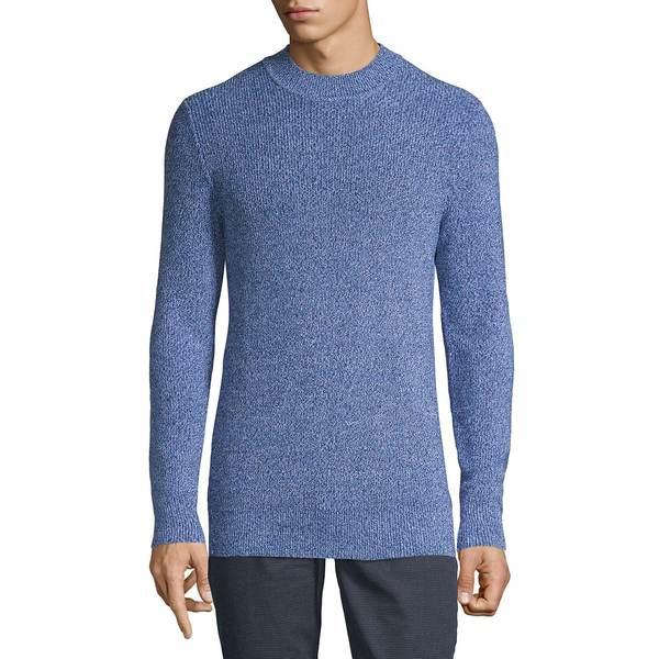 セレクテッドオム メンズ ニット&セーター アウター Ribbed Cotton Sweater Maritime Blue