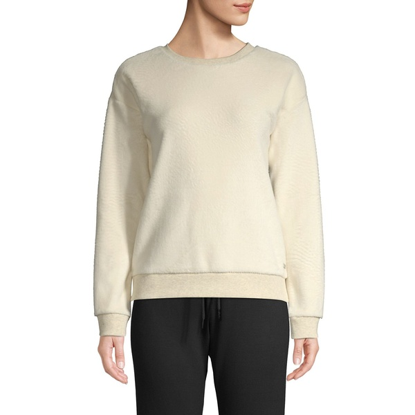 マークニューヨーク レディース パーカー・スウェットシャツ アウター Plush Pullover Sweatshirt White Heather