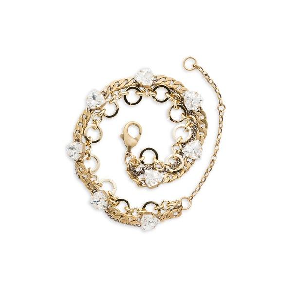 ソレーリ レディース ブレスレット・バングル・アンクレット アクセサリー Urban Trilliant Goldtone & Swarovski Crystal Convertible Bracelet Gold