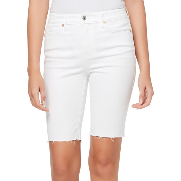 ジェシカシンプソン レディース カジュアルパンツ ボトムス Adored Bermuda Slim-Fit Denim Shorts White