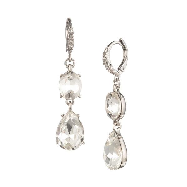 ジバンシー レディース ピアス&イヤリング アクセサリー Silvertone & Crystal Double Drop Earrings Silver
