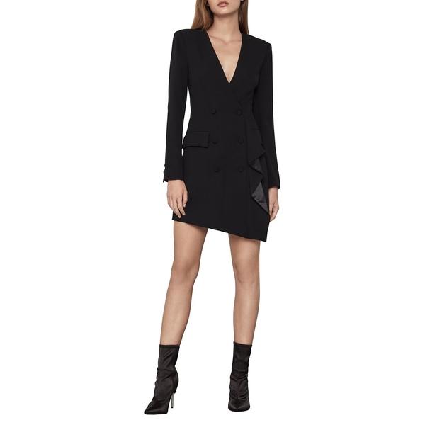 ビーシービージーマックスアズリア レディース ワンピース トップス Double-Breasted Mini Dress Black