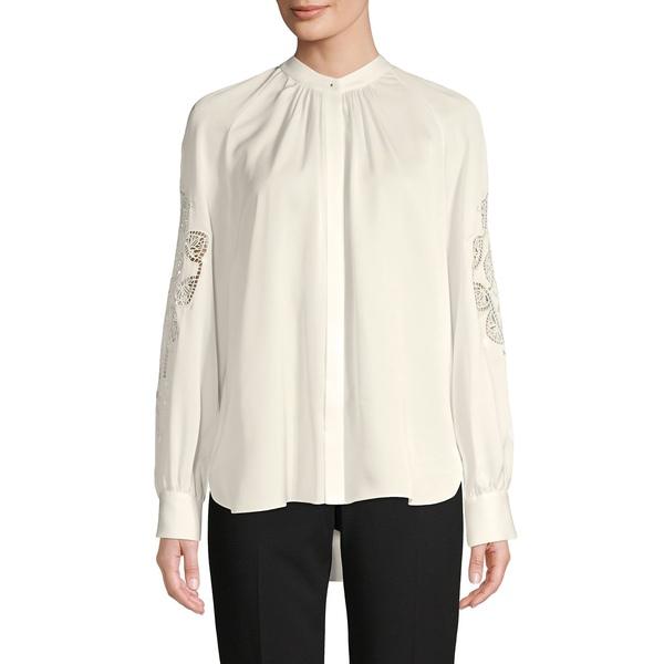エリータハリ レディース カットソー トップス High-Low Silk Shirt Foam