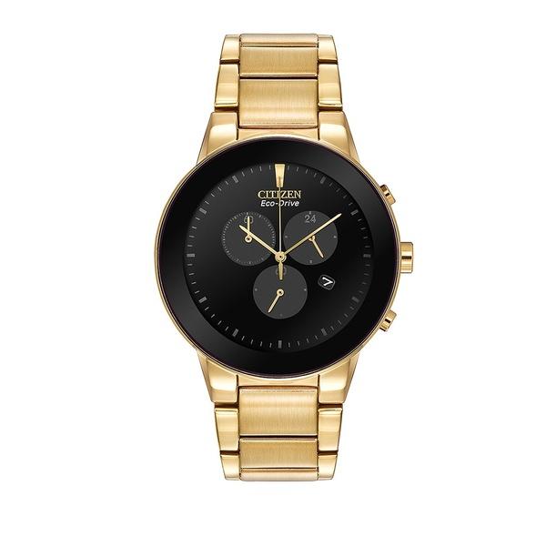 シチズン レディース 腕時計 アクセサリー Men's Eco Drive Axiom Chronograph Watch Gold