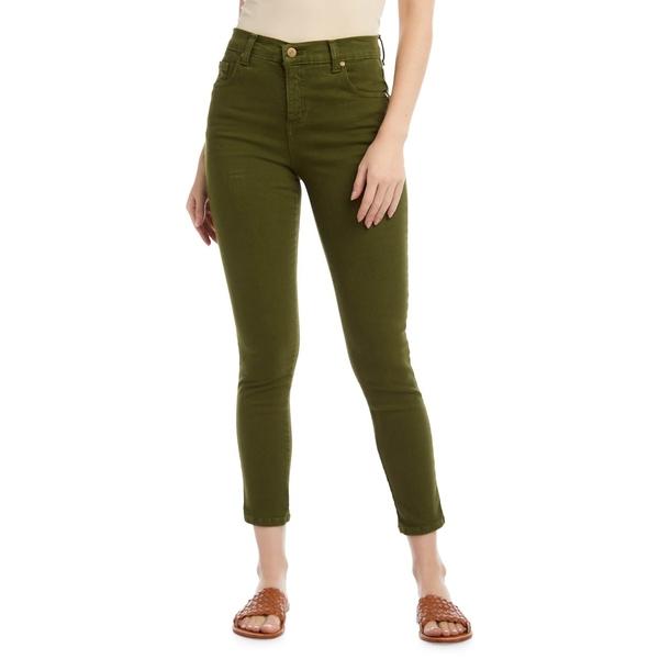 カレンケーン レディース デニムパンツ ボトムス Zuma Mid-Rise Cropped Jeans Olive