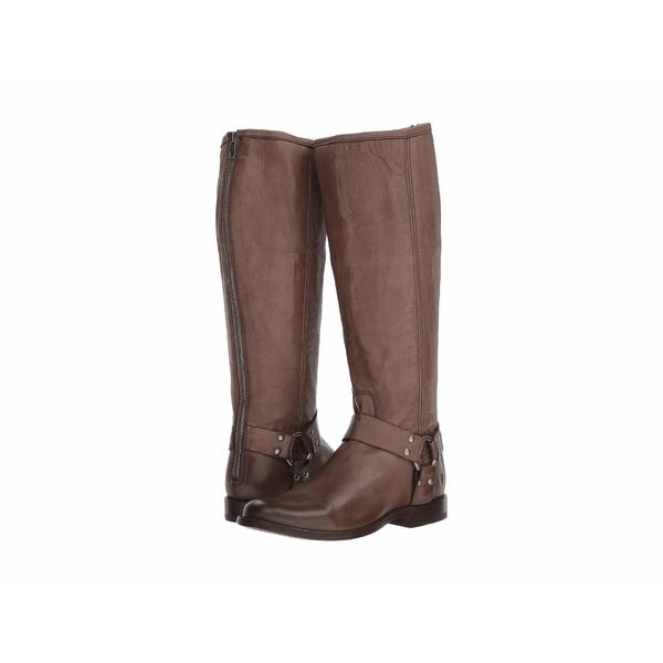 フライ レディース ブーツ&レインブーツ シューズ Phillip Harness Tall Grey Extended Soft Vintage Leather