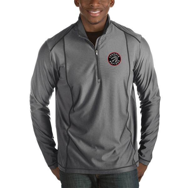 アンティグア メンズ ジャケット&ブルゾン アウター Toronto Raptors Antigua Tempo Big & Tall HalfZip Pullover Jacket Charcoal