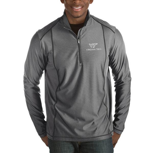 アンティグア メンズ ジャケット&ブルゾン アウター Virginia Tech Hokies Antigua Tempo HalfZip Pullover Big & Tall Jacket Charcoal