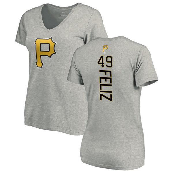 ファナティクス レディース Tシャツ トップス Pittsburgh Pirates Fanatics Branded Women's Personalized Playmaker TShirt Ash