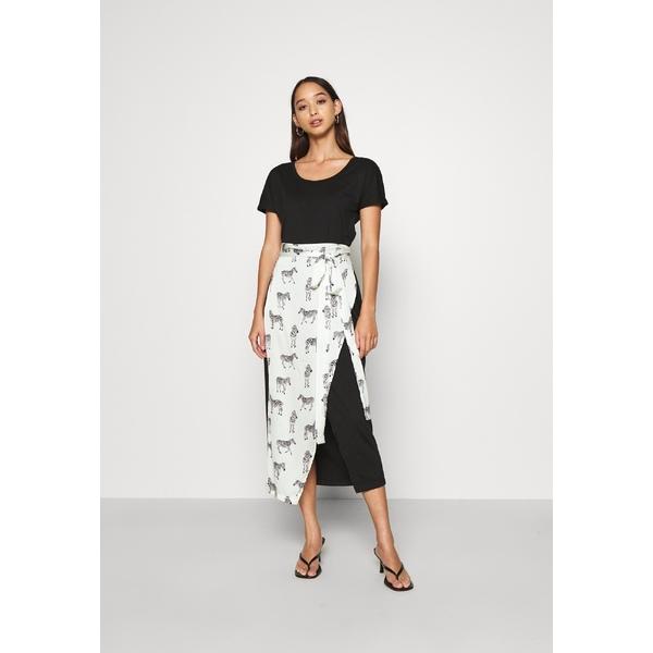 ネバーフリードレスド レディース トップス ワンピース black 全商品無料サイズ交換 BLACK 新着 ZEBRA dress 奉呈 WRAP vuxb015a - Day LOUNGE DRESS