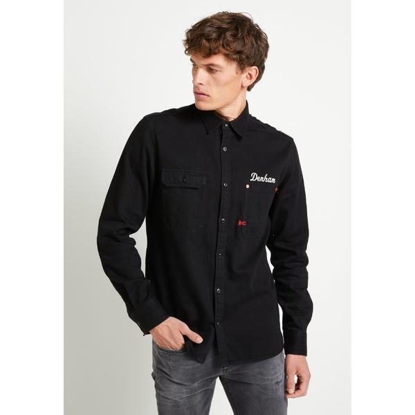 デンハム メンズ トップス シャツ black オンラインショッピング 限定品 vuxb0160 Shirt 全商品無料サイズ交換 - LINCOLN