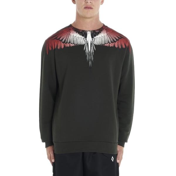 マルセロバーロン メンズ ニット&セーター アウター Marcelo Burlon 'red Wings' Sweatshirt Green