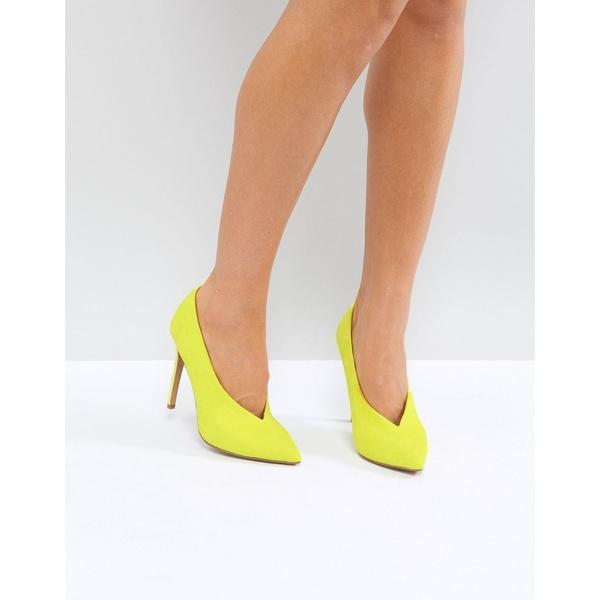 エイソス レディース ヒール シューズ ASOS PRIORITY High Heels Yellow