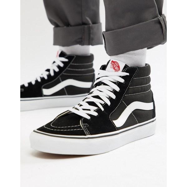 バンズ メンズ スニーカー シューズ Vans Sk8-Hi sneakers in black Black