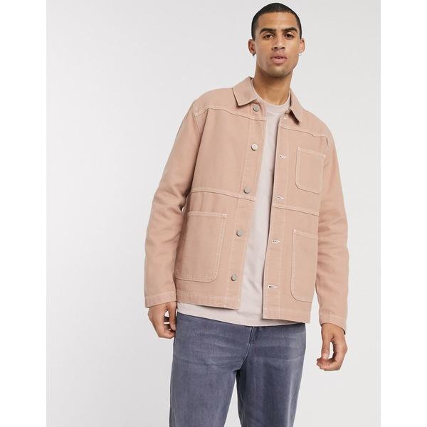 エイソス メンズ ジャケット&ブルゾン アウター ASOS DESIGN denim jacket in tan Tan