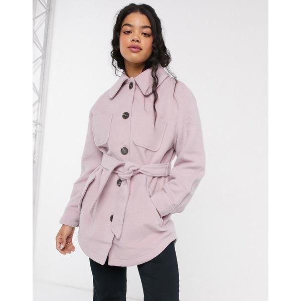 エイソス レディース ジャケット&ブルゾン アウター ASOS DESIGN brushed jacket in pink Pink