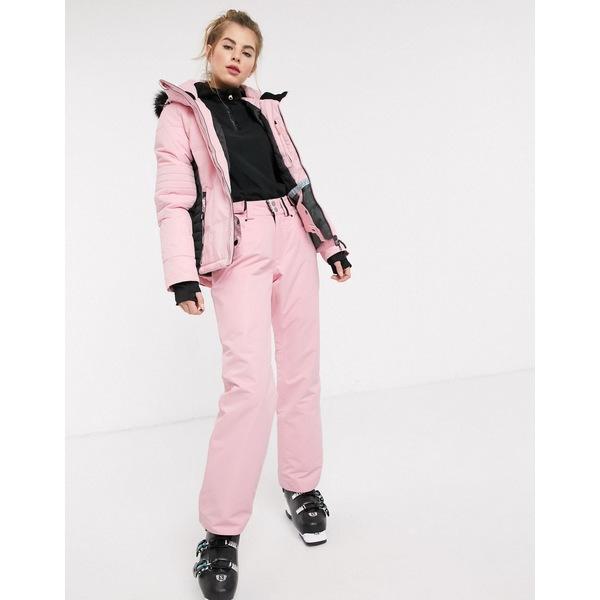 サーファニック レディース カジュアルパンツ ボトムス Surfanic Glow 10K-10K ski pants in pink Light pink