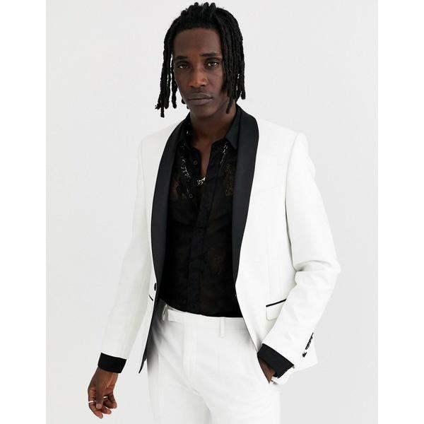 ツイステッドテイラー メンズ ジャケット&ブルゾン アウター Twisted Tailor tuxedo jacket in white White